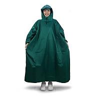 Áo mưa bít người vải dù tổ ong cao cấp freesize - Xanh lá thumbnail