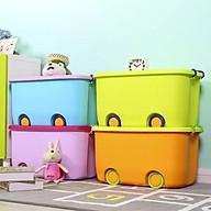 thùng đựng đồ chơi có bánh xe thumbnail