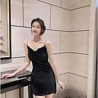 Đầm Nhung 2 Dây Hở Lưng , Sexy Siêu Đẹp.Thiết Kế Quyến Rũ Phong Cách Gợi Cảm thumbnail