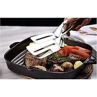 Kẹp gắp thức ăn nóng bản to inox 304 (Tặng kèm móc dán tường siêu chắc) thumbnail