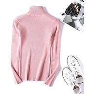 Áo len nữ dài tay cổ lọ, màu sắc sang trọng_Freesize thumbnail