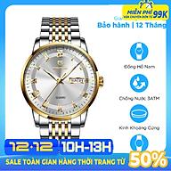 Đồng Hồ Nam Cao Cấp Chính Hãng Pagini Pa5599 Dây Thép Không Gỉ - Chống Nước 3ATM - Hiển Thị 2 Lịch Đẳng Cấp thumbnail