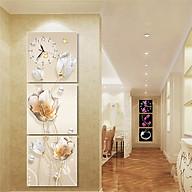 Tranh treo tường, tranh đồng hồ PP_ NT409 bộ 3 tấm ghép thumbnail