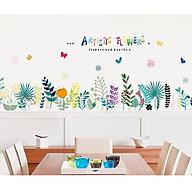 Decal dán chân tường hình hoa lá XL7184 thumbnail