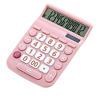 Portable Solar Calculator 12 Digits Large LCD Display Solar Energy & Button Battery Dual Power Supply Study Tool for thumbnail