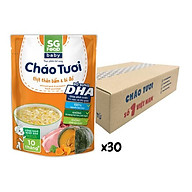 Thùng cháo tươi Baby Sài Gòn Food Thịt thăn bằm & Bí đỏ 240g x 30 gói thumbnail