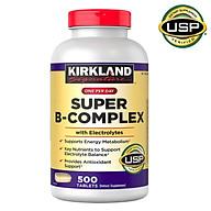 Viên Uống Bổ Sung Vitamin B Kirkland Super B-Complex chai 500 viên Làm Tăng Khả Năng Hấp Thụ, Chuyển Hóa Năng Lượng, Tăng Cường Hệ Miễn Dịch, Giảm Căng Thẳng, Phù Hợp Với Người Làm Việc Nhiều, Suy Nhược, Gầy Yếu, Thường Xuyên Cảm Cúm thumbnail