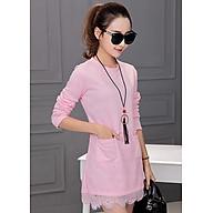 Váy Nữ Xuông Phối Ren Dáng Chữ A, 100% Cotton Phối Ren, 4 Màu Lựa Chọn, Thời Trang Công Sở Dạo Phố thumbnail
