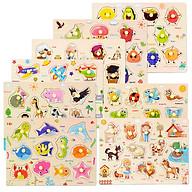Bảng gỗ xếp cho bé học tập (nhiều mẫu) thumbnail