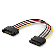 Cáp nối nguồn SATA 15Pin nối dài 1 đầu đực, 1 đầu cái, kết nối nguồn điện máy tính với ổ cứng Serial ATA, SSD, ổ đĩa quang, đầu ghi DVDB và thẻ PCI dài 20cm UGREEN US283 50718 - Hàng Chính Hãng thumbnail