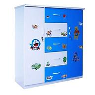 Tủ nhựa Đài Loan 2 cánh 5 ngăn T304 màu xanh biển thumbnail