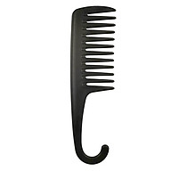 22.5cm Hair Brush Wide Tooth Comb Black ABS Plastic Heat-resistant Large Wide Tooth Comb For Hair Styling Tool thumbnail