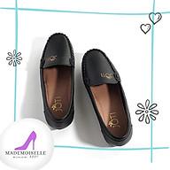 Giày Búp Bê Da Thật Thời Trang Nữ Công Sở Mũi Vuông Size 35 39. Phù Hợp Đi Chơi Dạo Phố 3 màu Đen Hồng Ruốc - Xám thumbnail