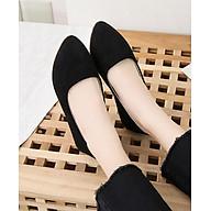 Giày búp bê da lộn nữ phong cách công sở kiểu dáng cơ bản V211 thumbnail