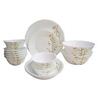 Bộ 16 món bát đĩa bằng thủy tinh ngọc Royal Stuart OPAL-B Hoa văn CITRON WEAVE thumbnail