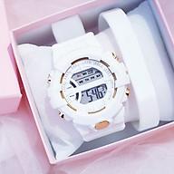 Đồng hồ điện tử nam và nữ KASAWI k562 Sports Đồng hồ Học sinh trung học cơ sở Hàn Quốc thể thao chống thấm nước- xem giờ điện tử - báo thức - bấm giờ thể thao - xem lịch ngày tháng thứ - Dây Silicone Bền Chắc thumbnail
