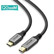 Cáp chuyển đổi QGeeM USB Type C 3.1 sang Mini DisplayPort 4K 60HZ HDTV dài 1.2m cho Macbook, Sansung S8-Hàng Chính Hãng thumbnail