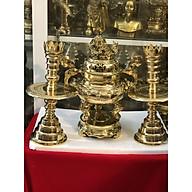 Bộ đỉnh tam sự vàng trơn truyền thống cao 50cm thumbnail