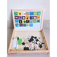 Bảng gỗ ghép hình nam châm 2 mặt (mặt bảng trơn và mặt bàng đen) học tiếng anh thumbnail