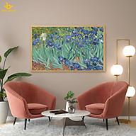 Tranh in canvas trang trí treo tường - Hoa Diên Vĩ iris Van Gogh thumbnail