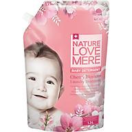 Nước Giặt Dịu Nhẹ Cho Bé Nature Love Mere Hương Cherry Túi 1.3L thumbnail