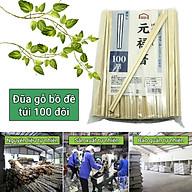 5 Túi đũa gỗ bồ đề đã luộc sấy khử trùng xuất Nhật (1 túi 100 đôi) thumbnail