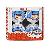 Hộp quà tết gồm 4 lọ ruốc cá hồi Meiwa cho bé và gia đình thumbnail