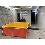 Bể bơi mini 2.2m x 3.1m x 0.8m cho bé bể bơi khung kim loại, bể bơi lắp ghép tại nhà thumbnail
