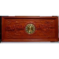 Tranh gỗ hương đục nổi mạ vàng gắn đồng hồ- Mã Đáo Thành Công -Tg264 thumbnail