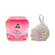Combo Bông Tắm Tạo Bọt Massage Nhật Bản + Sáp Thơm Khử Mùi Sandokkaebi 300g Hương Đào Hàn Quốc thumbnail