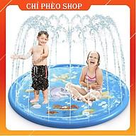 Bể bơi phao bơi tròn phun nước cho bé tiện ích cho bé (170cm), tặng kèm 15 trái bóng cho bé thumbnail