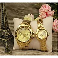 Đồng hồ thời trang nam nữ Rm2 dây kim loại, mặt kính cứng. thumbnail