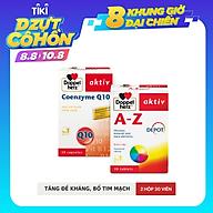 Bộ đôi bổ sung vitamin và khoáng chất tăng đề kháng và sức khỏe tim mạch Doppelherz A-Z Depot + Coenzyme Q10 (02 hộp 30 viên) thumbnail