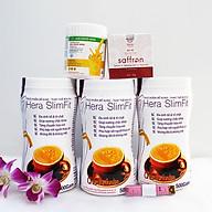 Combo 3 hộp Sữa giảm cân Hera Slimfit 500gr [Chính Hãng] - Giảm 3-7Kg 1 Liệu trình [Tặng 1 Sữa nghệ Hera 100g giúp giảm đau bao tử, 1 hộp Mặt nạ Saffron sữa ong chúa và 1 Thước dây] thumbnail