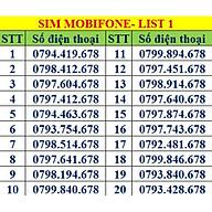 Sim số đẹp MobiFone - Số sảnh tiến 678 - Chọn Số Theo List MB01 - Hàng Chính Hãng thumbnail