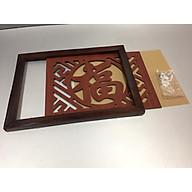 Tấm chống ám khói nhang 3 lớp, chữ Phúc Hán nâu (tặng kèm bộ vít mở ) DA12058 thumbnail