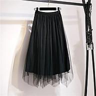 Chân váy 2 lớp nhung phối voan mặc được 2 kiểu thumbnail