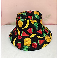 mũ mucket phong cách hàn họa tiết hoa quả thumbnail