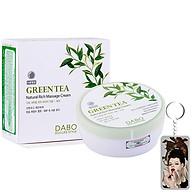 Kem massage mặt và toàn thân làm trắng, tái tạo da trà xanh Dabo Hàn Quốc 200ml + Móc khoá thumbnail