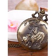 Đồng hồ quả quýt dây chuyền 12 con giáp MÙI- DH13 SIZE LỚN thumbnail