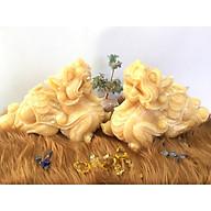 Cặp Tỳ hưu đá Ngọc Hoàng Long vàng dài 30cm 12,8kg cặp thumbnail