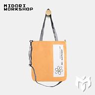 Túi tote đeo chéo mini nữ MIDORI DESIGN siêu bền đẹp 100% cotton tiện lợi thumbnail