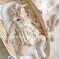 (Tặng Mũ Tròn) Váy body hoa nhí kèm mũ tròn tiểu thư xinh xắn cho bé 0-3 tuổi hàng cao cấp thumbnail