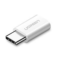 Đầu chuyển USB-C dương ra Micro USB âm UGREEN 30864 (màu trắng) - Hàng chính hãng. thumbnail