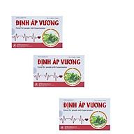 [COMBO 3 HỘPThực phẩm bảo vệ sức khỏe Định Áp Vương dùng cho những người tăng huyết áp thumbnail