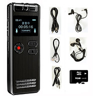 Máy Ghi Âm Chuyên Nghiệp GH-Q6 8G Màn Hình LCD Tích Hợp Loa Ngoài - Có Hỗ Trợ Nghe Nhạc MP3 AnZ thumbnail