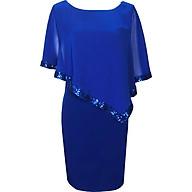 Đầm suông dự tiệc bigsize kiểu đầm suông cho người mập từ 42-85Kg phối voan kim sa màu Đen, Xanh, Đỏ Đô GOTI373 thumbnail