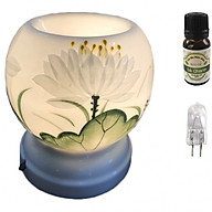 Combo tinh dầu sả chanh Eco oil 10ml cùng đèn xông tinh dầu MNB36 và 1 bóng đèn thumbnail
