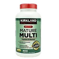 Viên uống Vitamin tổng hợp Kirkland Mature Multi Adult 50+ Hộp 400v của Mỹ dành cho nam, nữ trên 50 tuổi, Tăng cường miễn dịch, phòng các bệnh lây nhiễm, bệnh do virus, vi khuẩn thumbnail