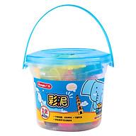 Bộ sáp nặn Tourgroups 12 màu kèm khuôn hộp trụ H04060 Guangbo (Giao màu ngẫu nhiên) thumbnail